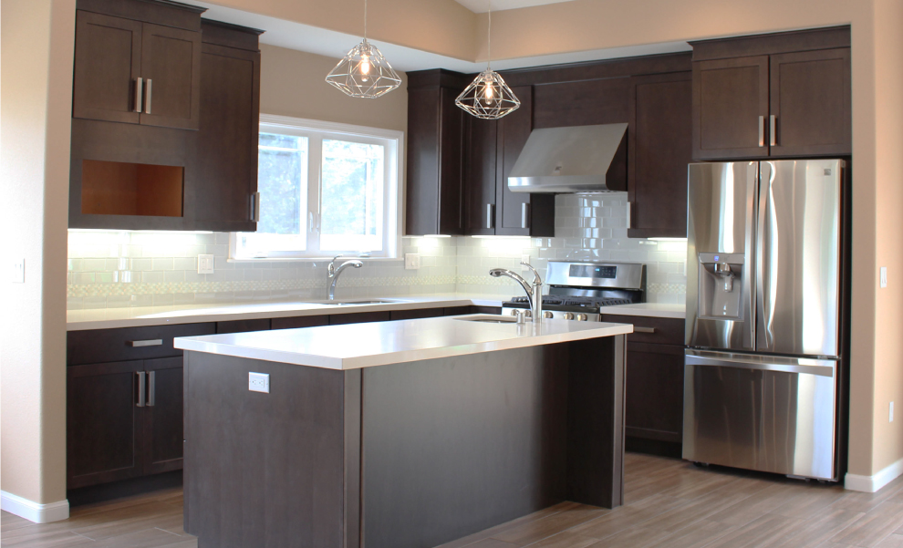 Stone Contemporary Kitchen Cabinet Remodel Humboldt County