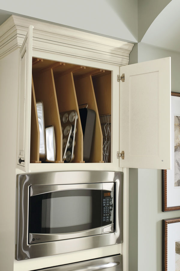 Tray Dividers in Tall Cabinet